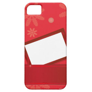 red christmas background with greeting card case for iPhone 5/5S