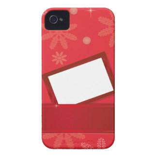red christmas background with greeting card iPhone 4 Case-Mate case