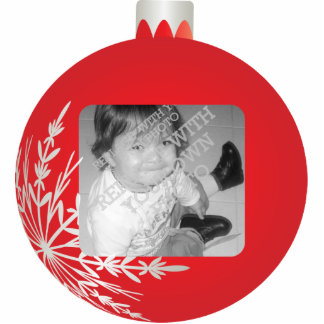 Red Christmas Ball Frame Cut Outs
