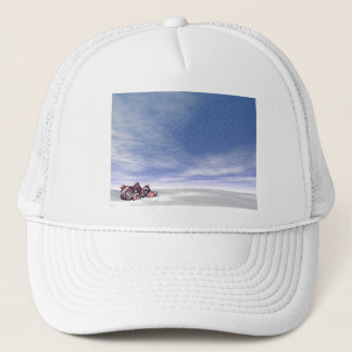 Red Christmas balls - 3D render Trucker Hat
