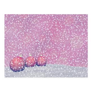 Red Christmas balls Postcard