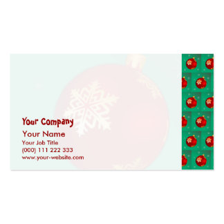 Red Christmas bauble Business Card Templates