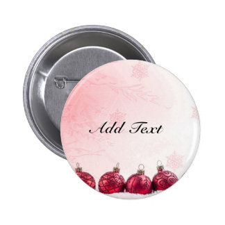 Red Christmas Baubles template 6 Cm Round Badge