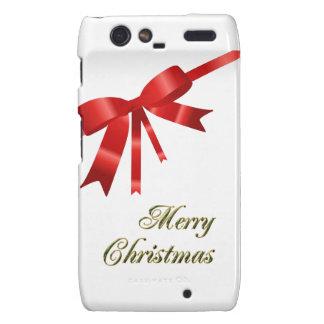 Red Christmas Bow Motorola Droid RAZR Case