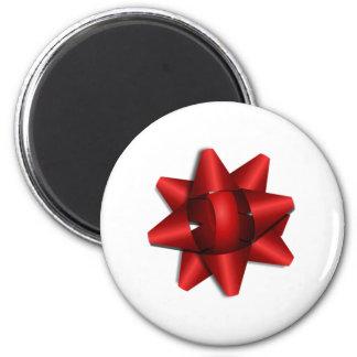 Red Christmas Bow Fridge Magnet
