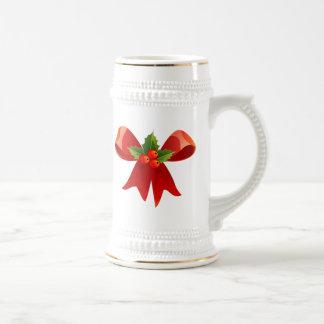 Red Christmas Bow Mugs