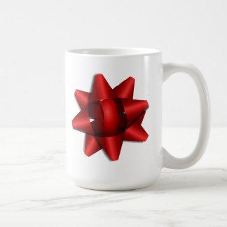 Red Christmas Bow Coffee Mug
