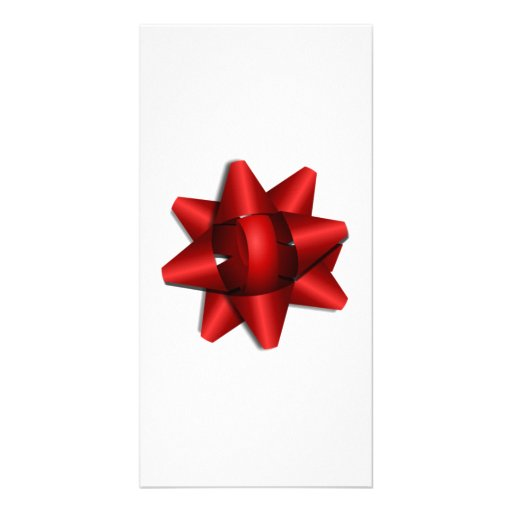 Red Christmas Bow Photo Card