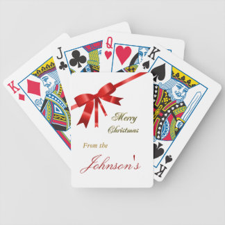 Red Christmas Bow Card Deck