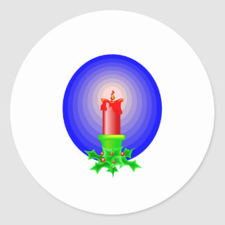 Red Christmas Candle Stickers