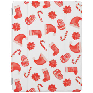 Red Christmas Cute Pattern Holiday iPad Cover