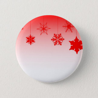 Red Christmas Decorations 6 Cm Round Badge