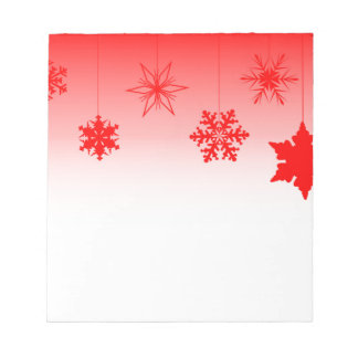 Red Christmas Decorations Notepad