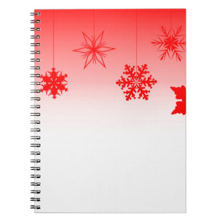 Red Christmas Decorations Spiral Notebooks