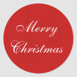 Red Christmas Envelope Seals with Ornaments
