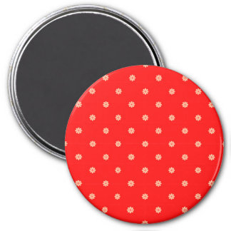 Red Christmas Flake Pattern Refrigerator Magnets