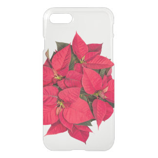 Red Christmas flower iPhone 7 Case