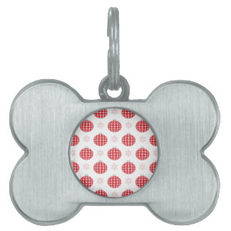 Red christmas ornaments pet tag
