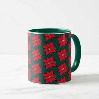 Red Christmas Poinsettias Coffee Mug Gift