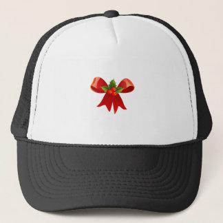 Red Christmas Ribbon Trucker Hat