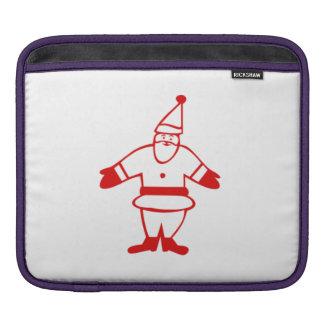 Red Christmas Santa Claus iPad Sleeve