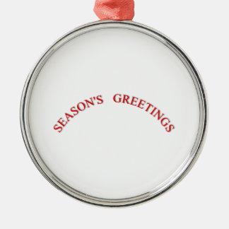 Red Christmas Seasons Greetings Christmas Ornaments