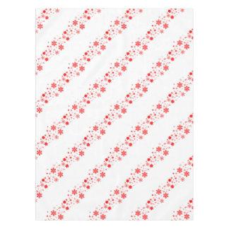 Red Christmas Snowflake  Banner Tablecloth