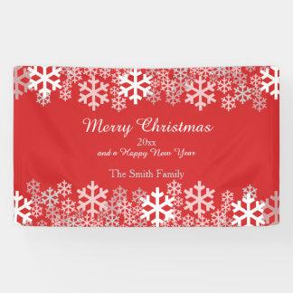 Red Christmas Snowflakes Pattern Greetings