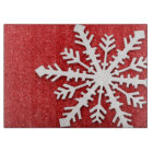 Red Christmas Sparkles Cutting Board