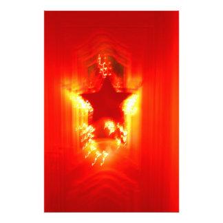 Red Christmas star Photographic Print