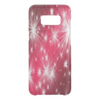 Red Christmas stars with snowflakes and poinsettia Uncommon Samsung Galaxy S8 Case
