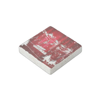 Red christmas stone magnet