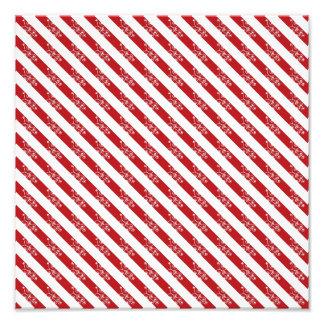 Red Christmas Stripes Photo