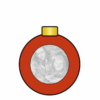 Red Christmas Tree Bulb Custom Ornament Photo Sculpture Decoration