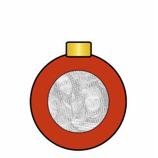 Red Christmas Tree Bulb Custom Ornament Photo Cutouts