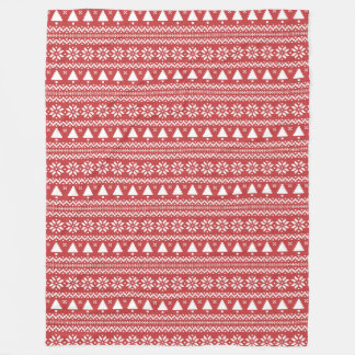 Red Christmas Tree Poinsettia Pattern