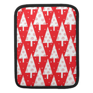 Red Christmas Trees Pattern Sleeves For iPads