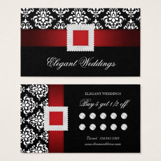 Red Christmas Wedding Loyalty Card Jewellery