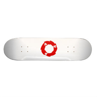 Red Christmas Wreath Skate Boards