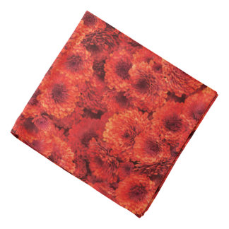 Red Chrysanthemums Bandana