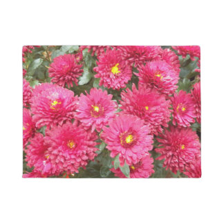 Red Chrysanthemums Floral Doormat