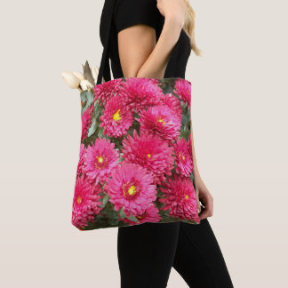 Red Chrysanthemums Floral Tote Bag