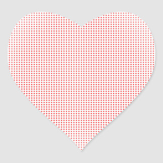 Red Circle Halftone Background Heart Sticker