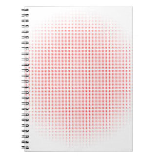 Red Circle Halftone Background Spiral Note Books