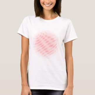 Red Circle Halftone Background T-Shirt