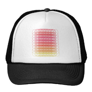 Red Circle Mesh Hats