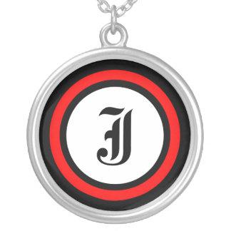Red Circle Initial Pendant