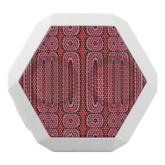 Red Circle pattern White Boombot Rex Bluetooth Speaker