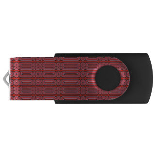 Red Circle Pattern Swivel USB 3.0 Flash Drive