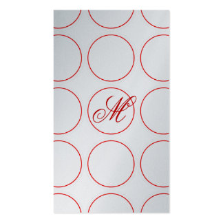 Red Circles and Monogram Pack Of Standard Business Cards